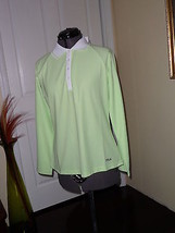 Fila Performa Golf Shirt Size L Mint Green Long Sleeves Nwt - $20.44