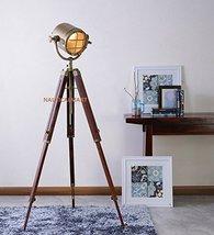 Nauticalmart Designer's Classic Sheesham Wood Brass Finish Tripod Floor Lamp - $128.70