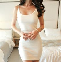 PF067 Sexy stretchabke vest dress, buy 1 get 1 free,SIZE M-2XL, white - $28.80