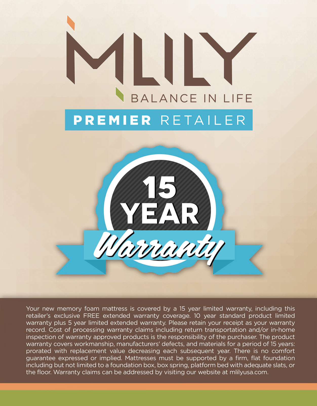 MLILY Memory Foam Mattress - Vitality - California King