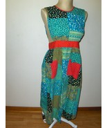 Vintage Design House Apron Patchwork Maxi with ... - $24.00