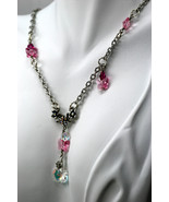 Swarovski crystal flower and butterfly necklace with centrepiece & Swaro... - $85.00