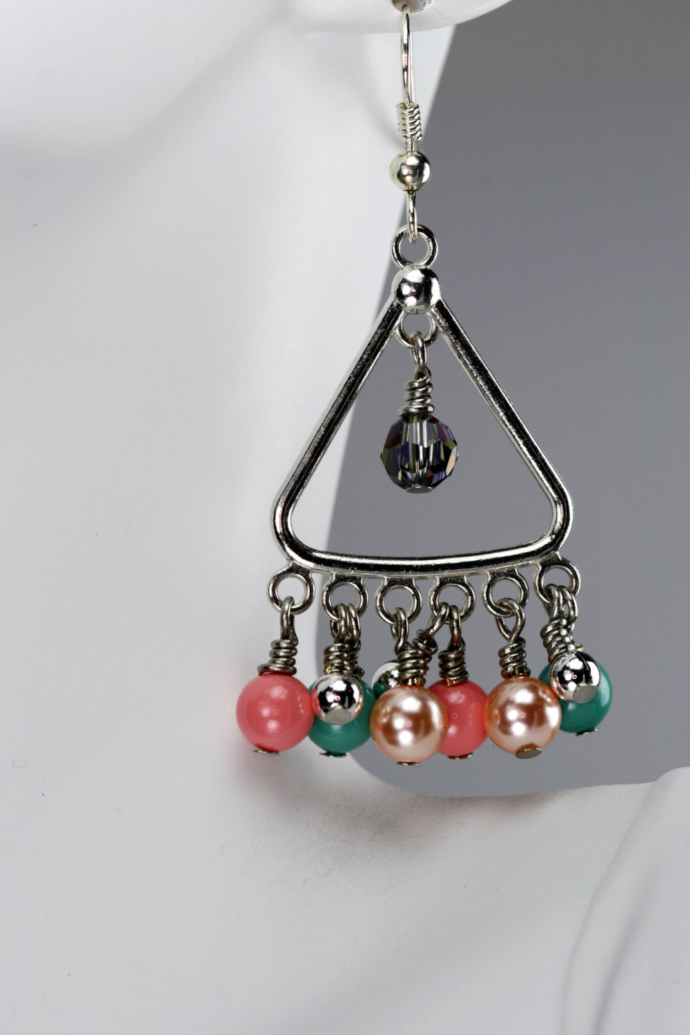 Primary image for Swarovski crystal pearl & crystal dangle earrings