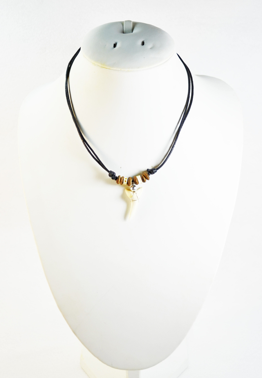 Shark tooth choker necklace