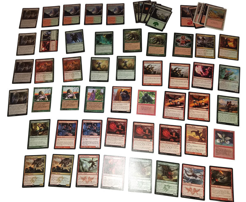 Magic the Gathering MTG Red / Green Dragon (60) Card Deck
