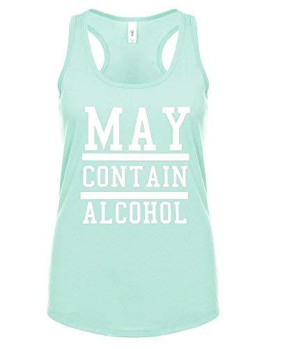 Primary image for 12.99 Prime Tees Womens May Conatin Alcohol Funny Drinking Racerback Tank Top X-