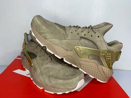 NEW SIZE 9.5 11.5 MEN Nike Air Huarache Run PRM GOLD RUSH Khaki/Gold Sho... - $49.99
