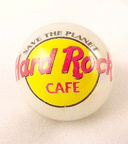 Hard Rock Cafe Marble Logo Pearlized Glass Advertising