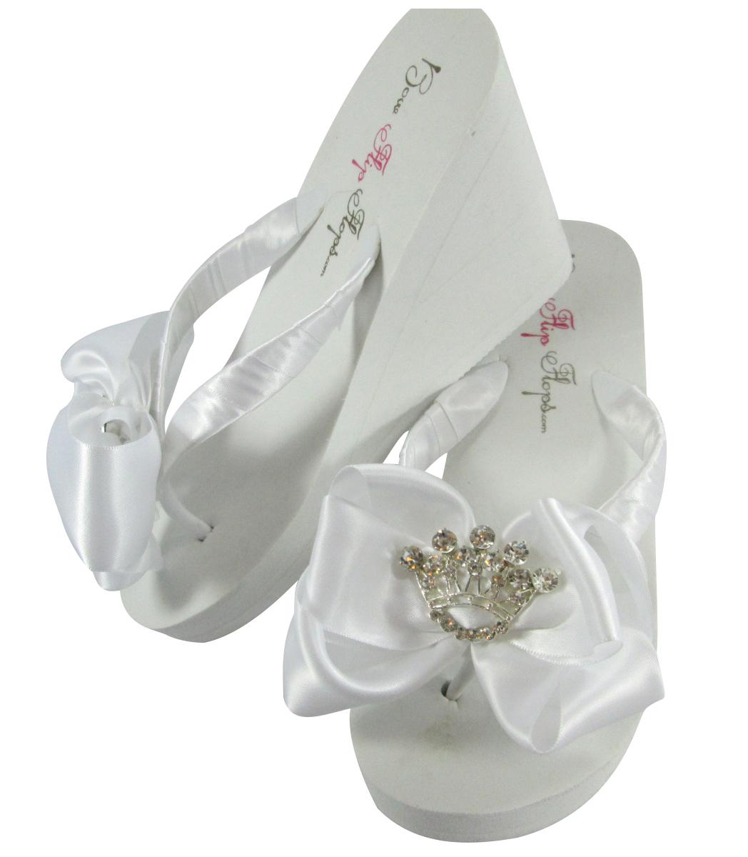 826c771d0 Teal Satin Tropic Bow Flip Flops- Wedge- and 50 similar items