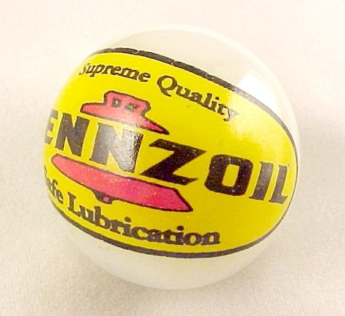Pennzoil Marble Oil Gas Station Gasoline Advertising