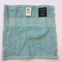 """Ralph Lauren Wescott Lagoon Blue Cotton Hand Towel 12"""" x 13"""" SS17108 - $6.79"""