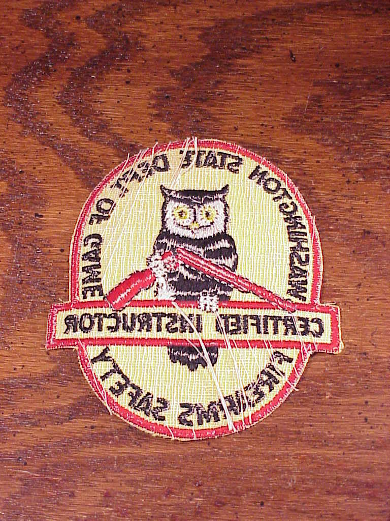 Washington State Department of Game Firearms Safety Certified Instructor Patch