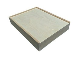 Strong Durable Sliding Top Sanded Unfinished Wood Rectangle Craft Projec... - $41.50