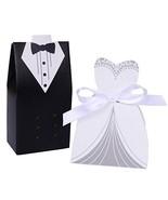 50 Handsome Tuxedo Groom & 50 Beautiful Wedding Dress Bride Gift / Candy... - €18,43 EUR