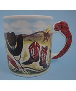 Large Cowboy Coffee Mug Country Western 1995 Flowers Inc Balloons FIB #6... - $5.95