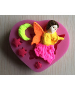 Beautiful Girl Angel Shape 3D Silicone Cake Fondant Mold, Cake Decoration Tools, - $5.33