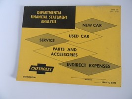 Vintage Original Chevrolet Dealership Book for Departmental Financial Statement - $49.99