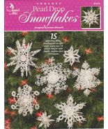Free Ship Pearl Drop Snowflakes 3 D Crochet Pat... - $7.99