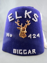 Vintage Elks Lodge Fex - No. 424 Biggar Saskatchewan Canada - Size 7 1/8 - $89.00