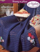 Starflower Country At Heart Afghan Crochet Pattern/Instructions Leaflet NEW - $1.14