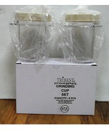 2 Pack- Reg.Size 8 Oz. Containers w/Lids for Tribest Personal Blender & ... - $15.95
