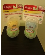 4x Playtex Binky Silicone Pacifiers,Age 0-6 Months(2 Pck x 2 Ea)+Sterili... - $15.83