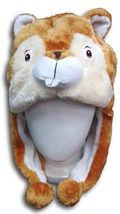 Cute Kawaii Anime Animal Cosplay Soft Brown&White Fluffy Plush Warm Squi... - €9,20 EUR