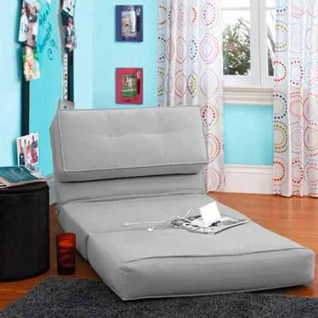 New sleeper sofa bed lounger fold down chair flip out gray for Flip down sofa bed