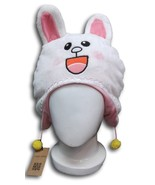 New Cute Line Apps Character Bunny Rabbit CONY Soft Plushy Warm Cosplay Hat Earm - $9.99