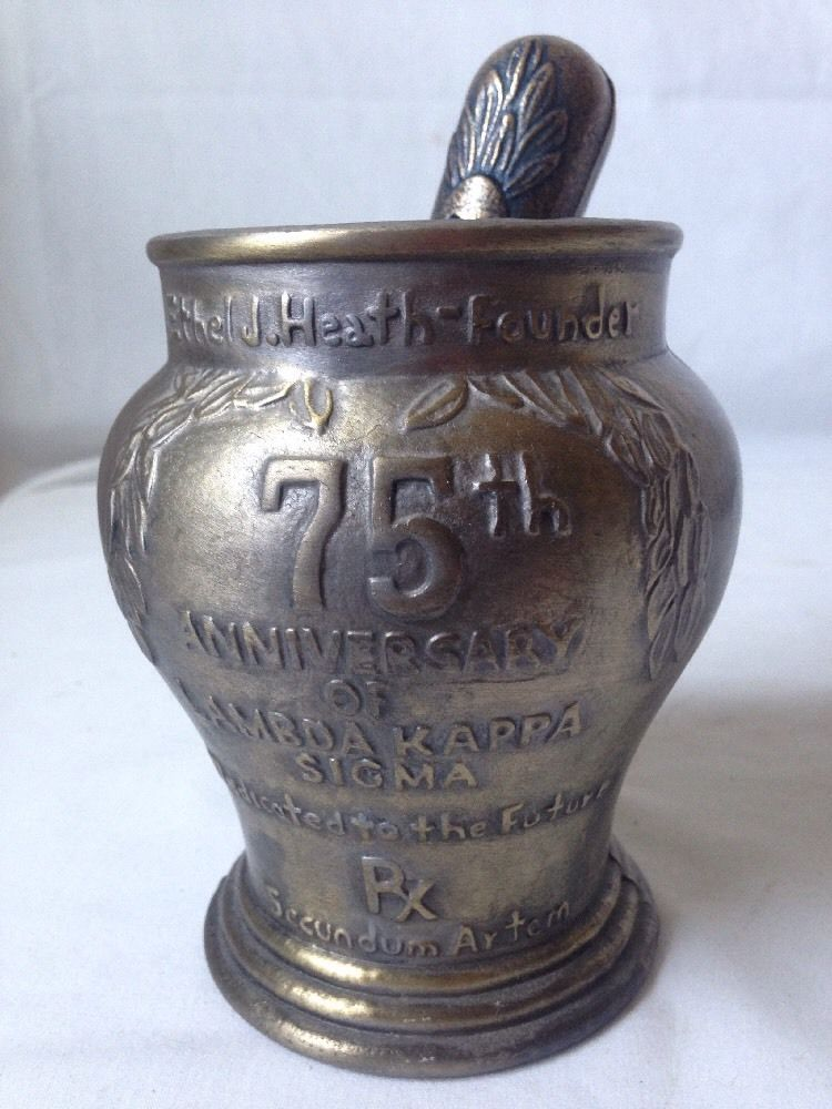 Vintage Lambda Kappa Sigma Mortar And Pestle Schering 1989