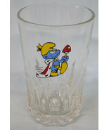 """Smurf as King 4 7/8"""" Tall Ribs Peyo Glass 1992 - $24.64"""