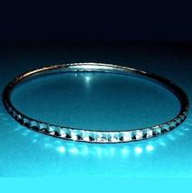 Vintage Laser Cut Silver 7 inch Bangle Bracelet - $19.99