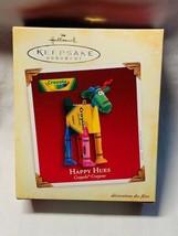 Hallmark Happy Hues Reindeer 2005 Crayola Crayon Ornament NIB with Tag - $8.60