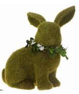 """Raz Imports bunny rabbit 9 1/2"""" moss bunny looking right 4053301 - $19.99"""