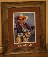 "Doreman Burns Cowgirl Signed Print Matted Framed 15"" x 18"" - $155.00"
