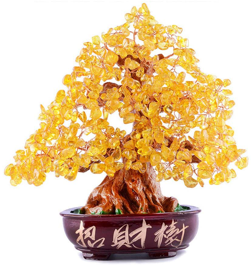 Dameing Crystal Money Tree Feng Shui Bonsai For Fortune Money Good Luck Reiki He