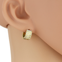 United Elegance Chic Two Tone (Silver & Gold) Huggie Hoop Earrings - $12.99