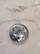 Sterling Silver .925 Pendant Necklace Wolf Moon Howl - $30.50+