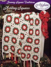 Holiday Squares TNS Afghan Granny Square Traditions Crochet Pattern Leaf... - $1.23