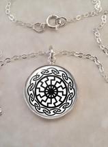 Sterling Silver 925 Pendant Necklace Sun Wheel Sun Cross Solar Cross - $30.00+