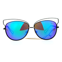 Butterfly Cateye Sunglasses Womens Metal Wired Rim Fashion Shades - $12.95