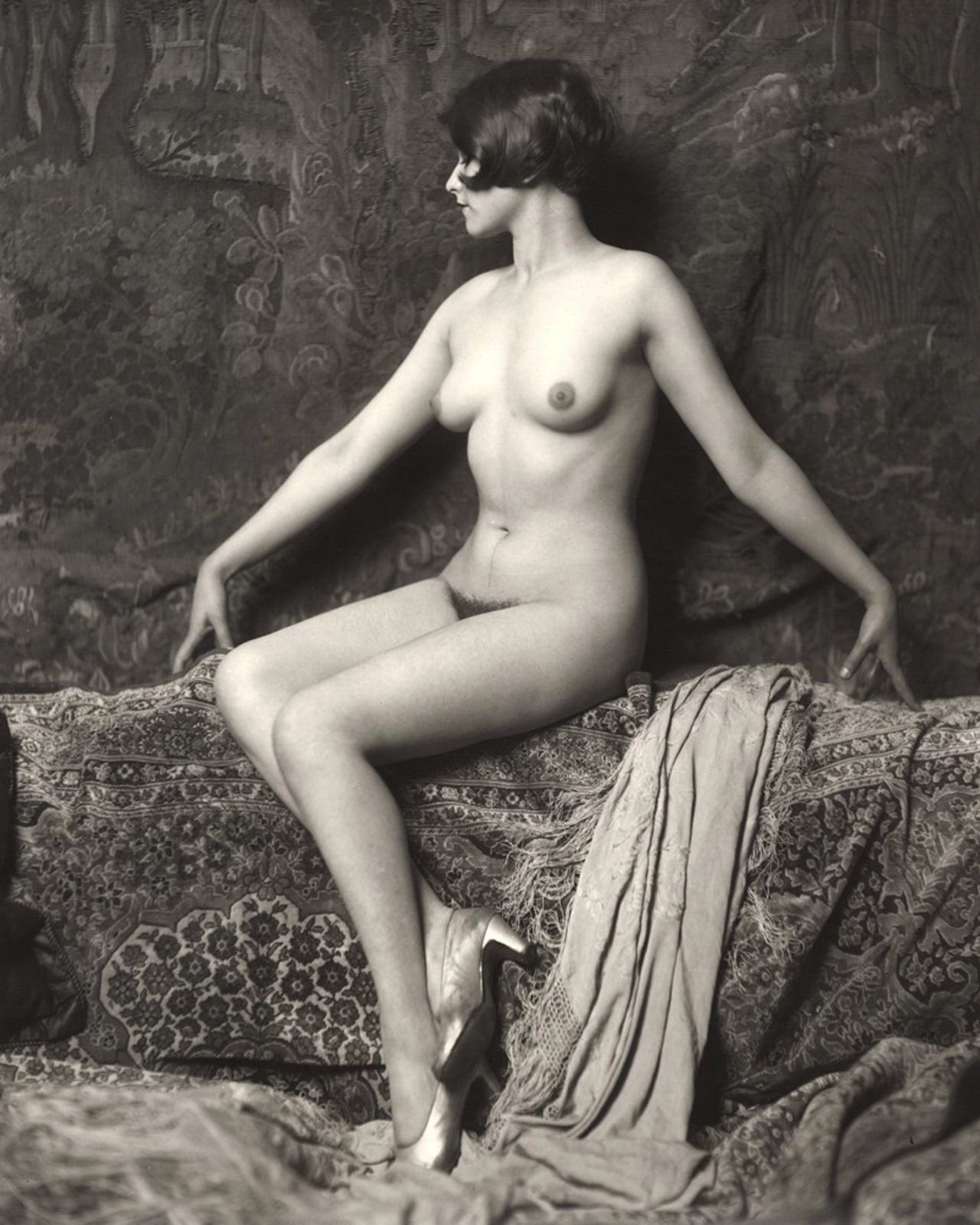 Primary image for Vintage Nude Women 8X10 Black & White Print-Photo-Picture-Antique-Old-Burlesque