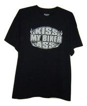 Free Shipping Kiss my biker ass Black T/shirt all sizes. - $15.99+