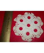 Home Treasure Linen Table Decor Set 7 holes White Circular Doily Doillie... - $16.62