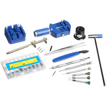 19-piece Plastic/Metal Watch Repair Tool Kit with Heavy-duty Storage Box - $34.64