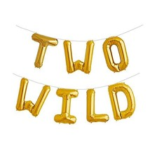 Two Wild 16 inch Foil Balloons 2nd Birthday Balloon Backdrop Banner for ... - $12.11