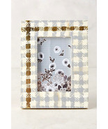 Gingham Gold and Gray Checked Frame Anthropologie - £17.26 GBP