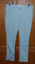 Rock & Republic Berlin Skinny Jeans Ladies Size 14 M Colored Ice Blue Denim - $49.45