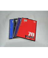 WIDE RULE  SPIRAL BOUND NOTEBOOK 70 sheet 10.5 by 8 inch notebooks Case ... - $23.35