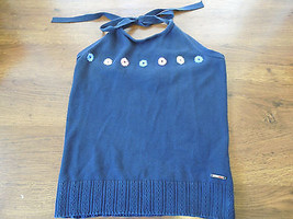 Womens Halter Top By Tommy Hilfiger Navy Blue - $9.89